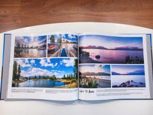 New Zealand Landscapes Photobook open