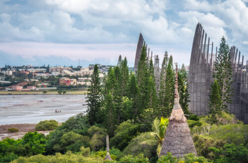 Tjibaou Cultural Centre, the Kanak native art museum by Renzo Piano in Noumea, New Caledonia