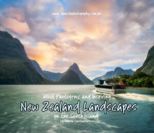 Ebook Cover for New Zealand Landscapes Photobook by Daniela Constantinescu