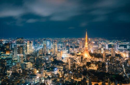 Aerial View of Tokyo Metropolis in Japan